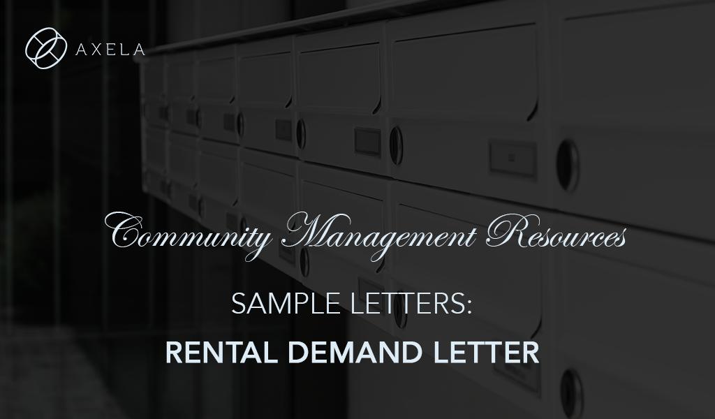 Rental Demand Letter